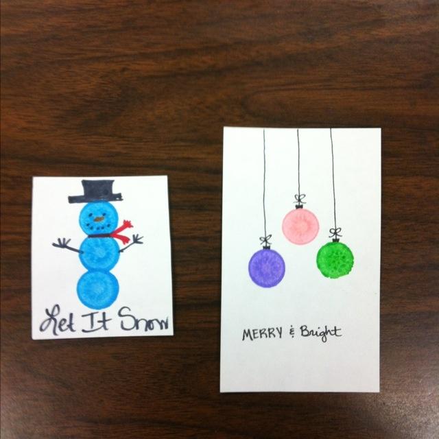 using dot paints. easy kids ornaments