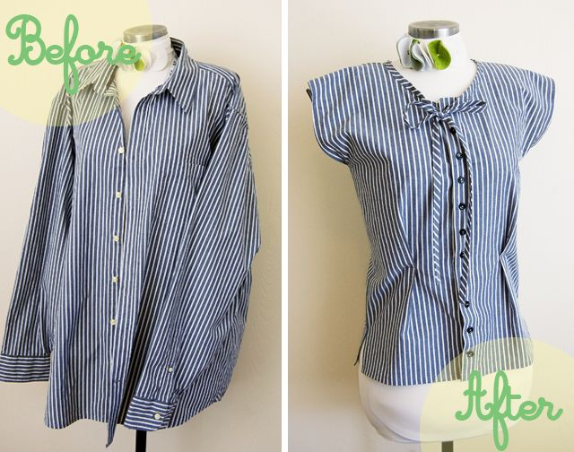 Button down to Cute top