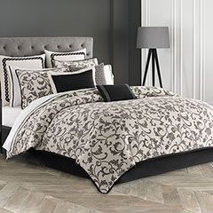 Cal King Comforter Set (Wedgwood Acanthus) From the Home Decor Discovery Community At www.DecoAndBloom.com