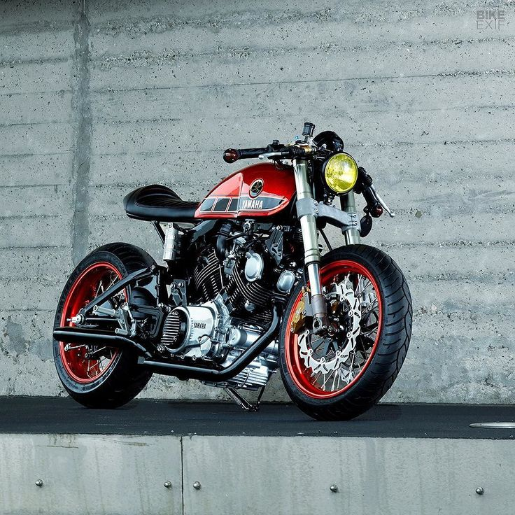 "bike-exif: ""Here's one of the best amateur cafe racer builds we've seen in a long while. It's a Yamaha TR1 by Dutchman Roland Snel, who's taken inspiration from Virago specialist Greg Hageman. Roland's fitted modern Showa suspension (taken from a..."