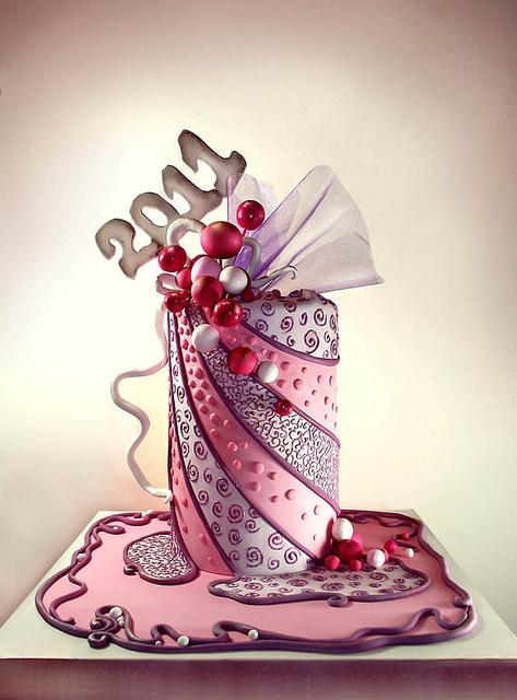 4+ by ijosefsen (Nelka), via FlickrIjosefsen Nelka, Cake Cupcakes, Years Cake, Fondant Cake, Fancy Cake, Cake Decor, Amazing Cake, Awesome Cake, Swirls Cake