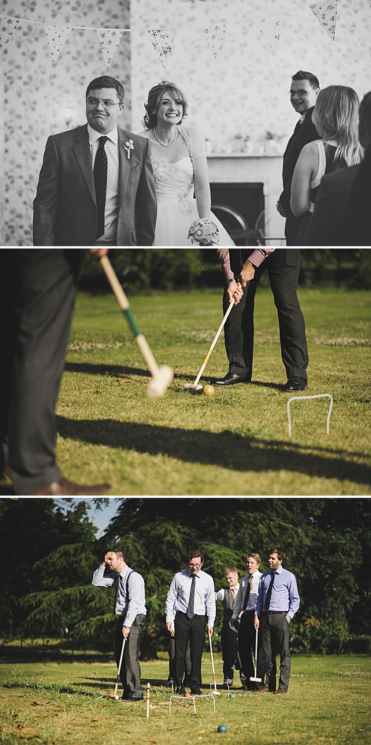 You have to have croquet at An English country garden tea party wedding with vintage touches at Valentines Mansion.