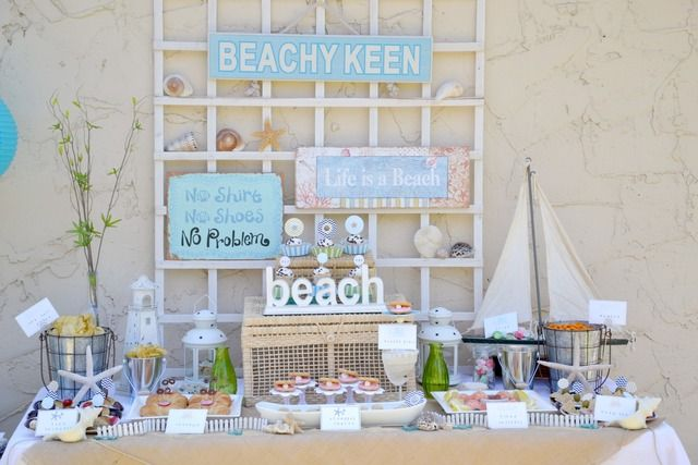 Great beach party dessert table