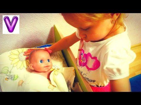 Играем дочки матери Утро Кукла Пупсик Кушает умывается \ Игрушки для девочек - YouTube