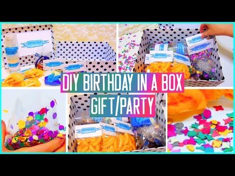 DIY Birthday in a box! Throw a mini party for your friend! Gift idea - YouTube