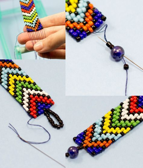 NOT REALLY HUICHOL, but the palette is. :) ---------- hacer pulseras de abalorios con cuenta