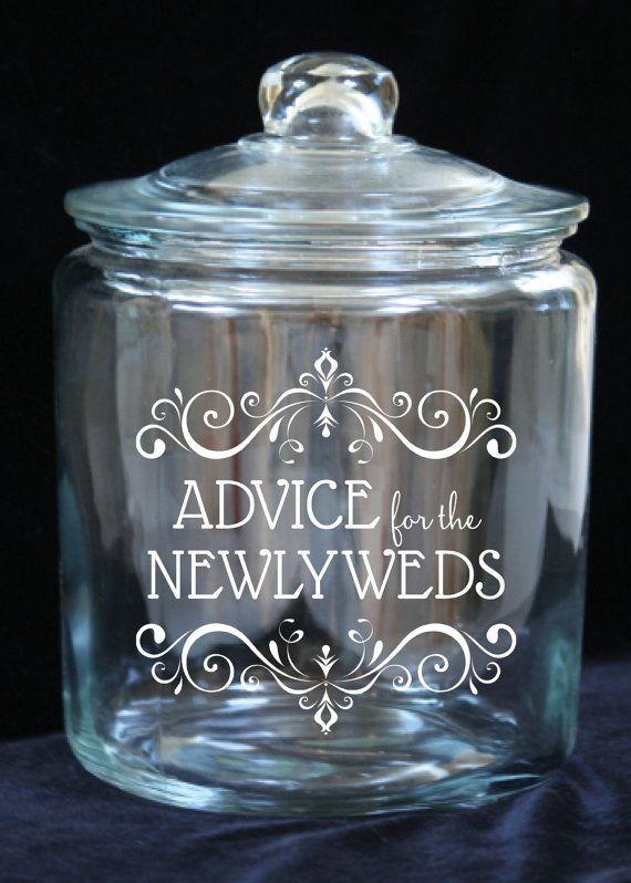 Advice for the Newlyweds 1 Gallon Glass Jar Laser by JoyousDays