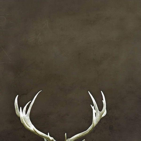 Deer Antlers Rustic Home Decor Dark Brown Large Wall Art Man Cave Art ($30) ❤ liked on Polyvore featuring home, home decor, wall art, dark olive, home & living, home décor, wall décor, wall hangings, silhouette wall art and rustic home decor