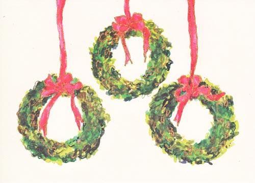 3 Box Wreaths Holiday Cards