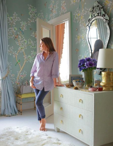 Gracie Wallpaper in Aerin Lauder's Dressing Room