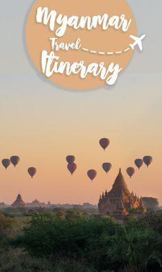 The best Myanmar itinerary, 2 weeks including a mix of culture & natural beauty that Burma is famous for. Visit the cities of Bagan, Inle Lake, Mandalay & Kalaw via @gettingstamped