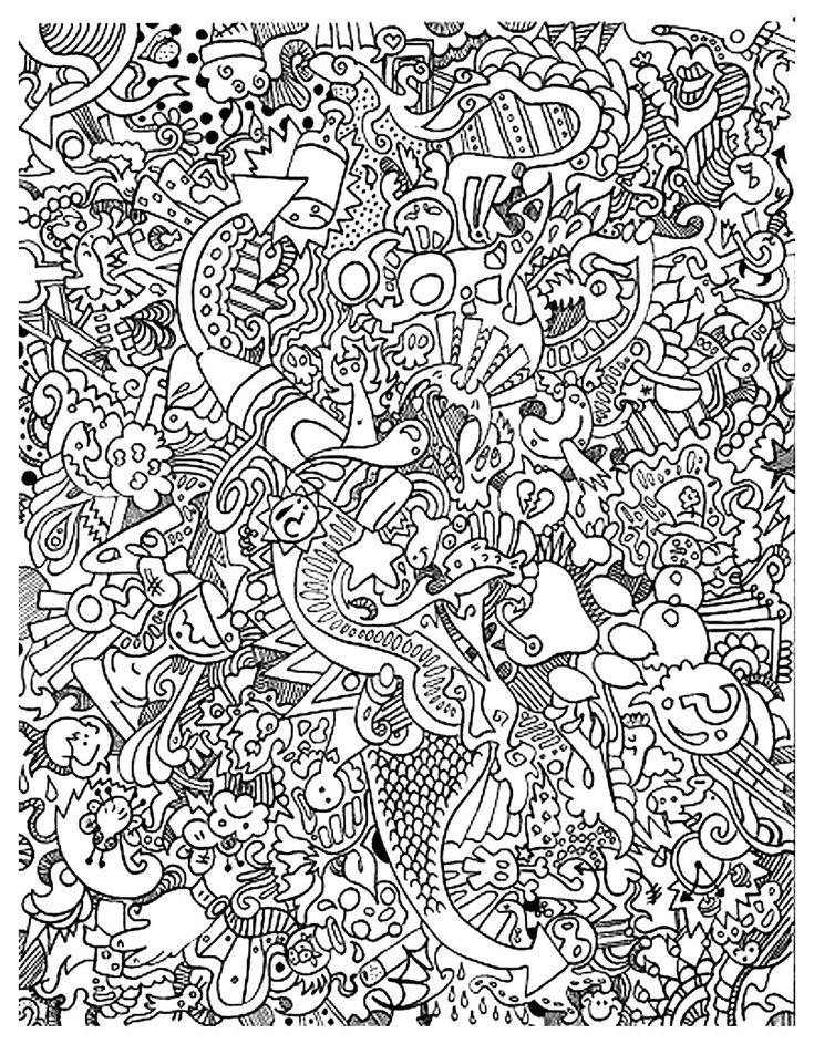Galerie de coloriages gratuits coloriage adulte gros foutoir
