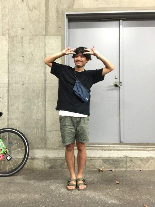 つじま|ユニクロのハーフ・ショートパンツを使ったコーディネート - WEAR