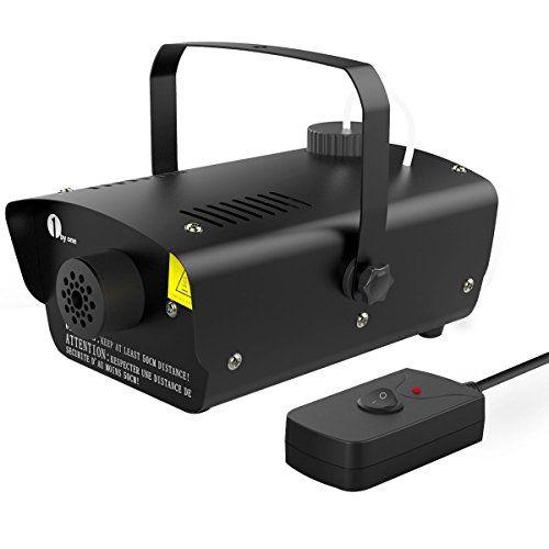 1byone 400 Watt Mini Nebelmaschine, kleine Heimnebelmaschine mit Kabelfernbindung, Tankkapazit�t von 300ml
