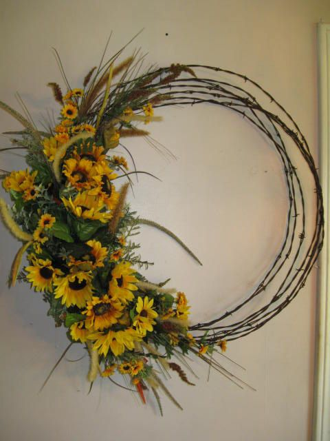 Barbed Wire Wreath by CountrysDesigns on Etsy
