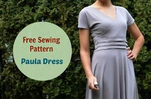 Paula Dress pattern: Get your free printable PDF sewing pattern today.  Easy summer dress for women comes in sizes 4 to 22 and letter and A4 format