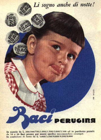 Cioccolatini Baci 1960