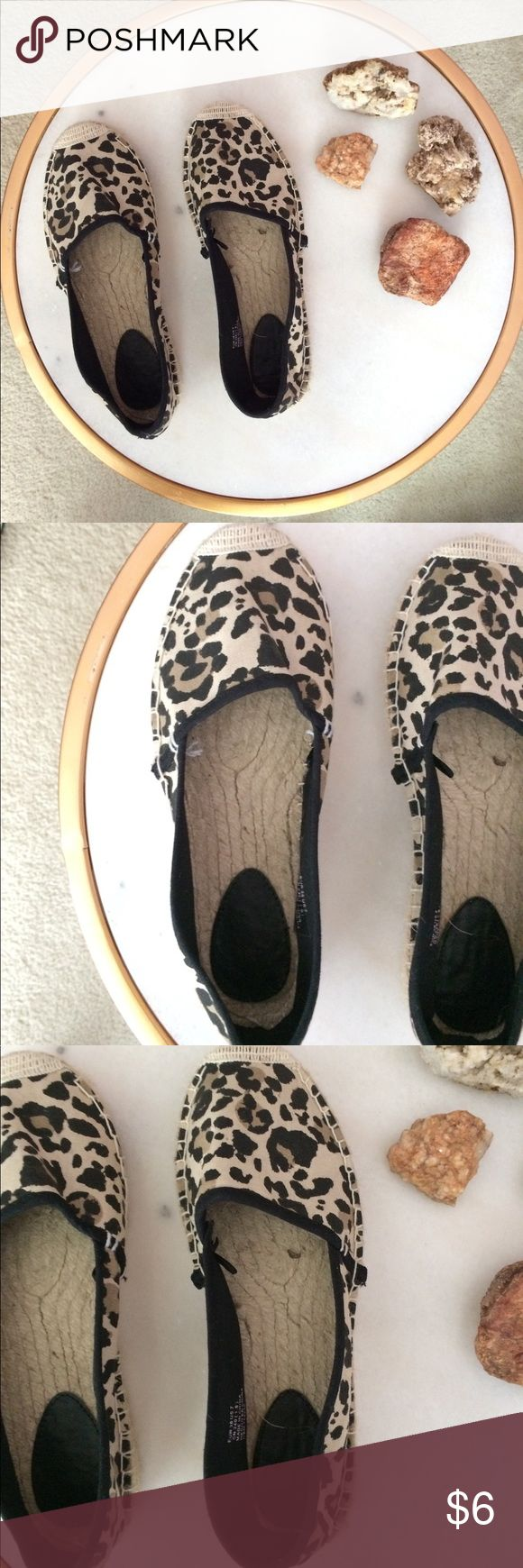 Leopard Espadrilles Minor wear and tear. Cute espadrilles from H&M. Feel free to ask questions for more details. H&M Shoes Espadrilles