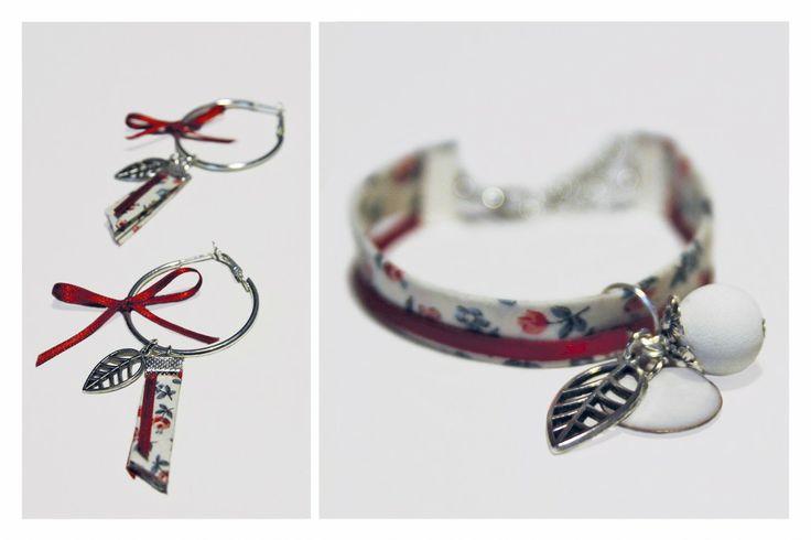 La Bijou Box de novembre : bracelet liberty et boucles créoles avec breloques de saison