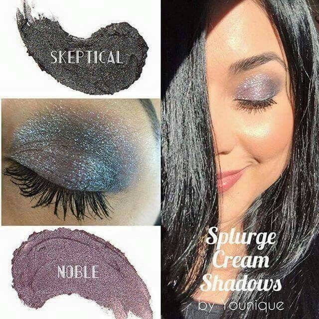 Gorgeous eyes in seconds!!  Younique Splurge Cream Shadow in Noble and Skeptical