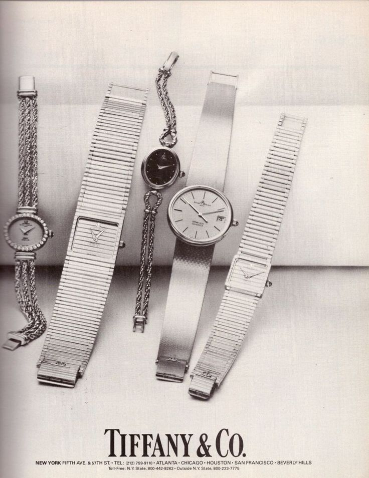 1982 Tiffany & Co. Jewelry Tiffany's Watches Print Ad Vintage Advertisement 80s | eBay