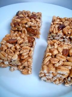 Honey cinnamon pecan puffed wheat squares - my variation of puffed wheat squares!