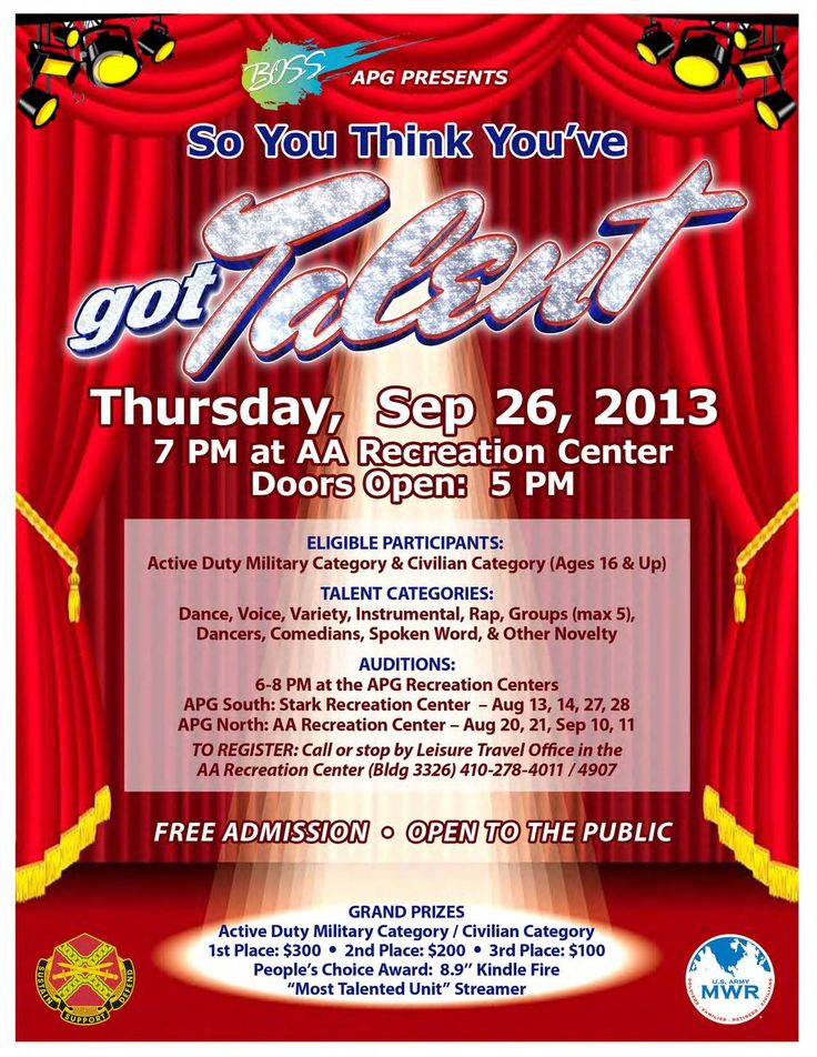 camp talent show flyer