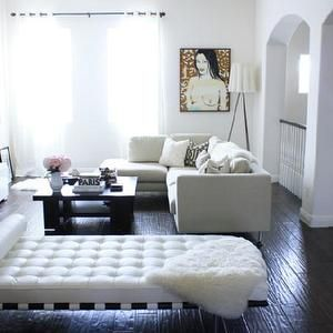 Made by Girl - living rooms - barcelona bench, white barcelona bench, leather barcelona bench, sectional sofa, espresso coffee table, ivory ...