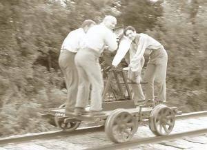 railroad hand cart | Hand pumped rail cart: | Lee Hall Depot | Pinterest | Hands