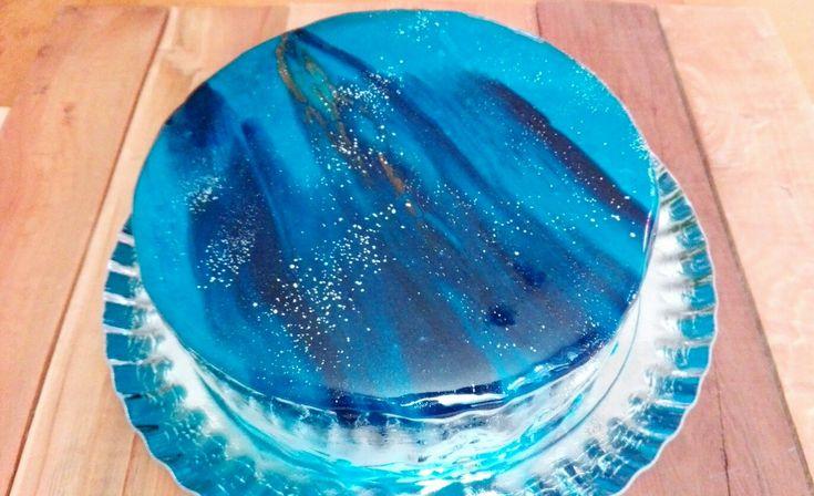 Mirror glase cake  Torta espejo