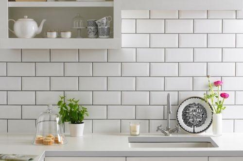 4 SQMTRS White Metro bevelled edge wall tiles 200 x 100 | eBay