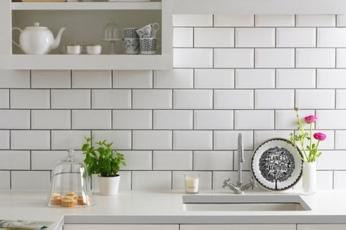 kitchen tiles wall designs 4 sqmtrs white metro bevelled edge wall tiles 200 x 100 6308