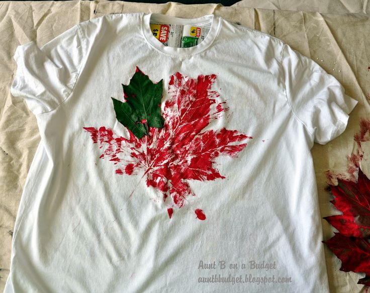 Aunt B on a Budget: Leaf Print T-Shirt For Canada Day
