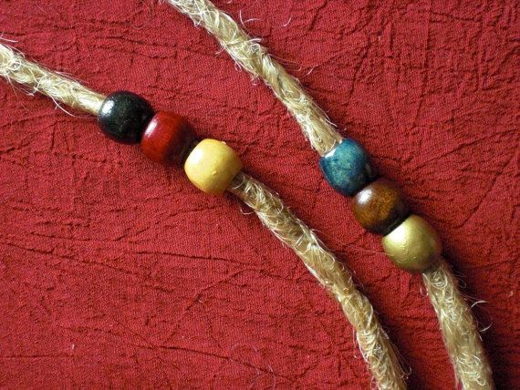 Set of 3 Dread Beads Small 1/3 Wooden Thin Dreadlock by mraur, $2.00