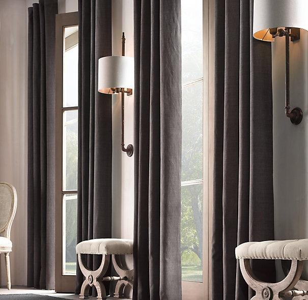 Belgian Brushed Linen Cotton Drapery Linen Curtains