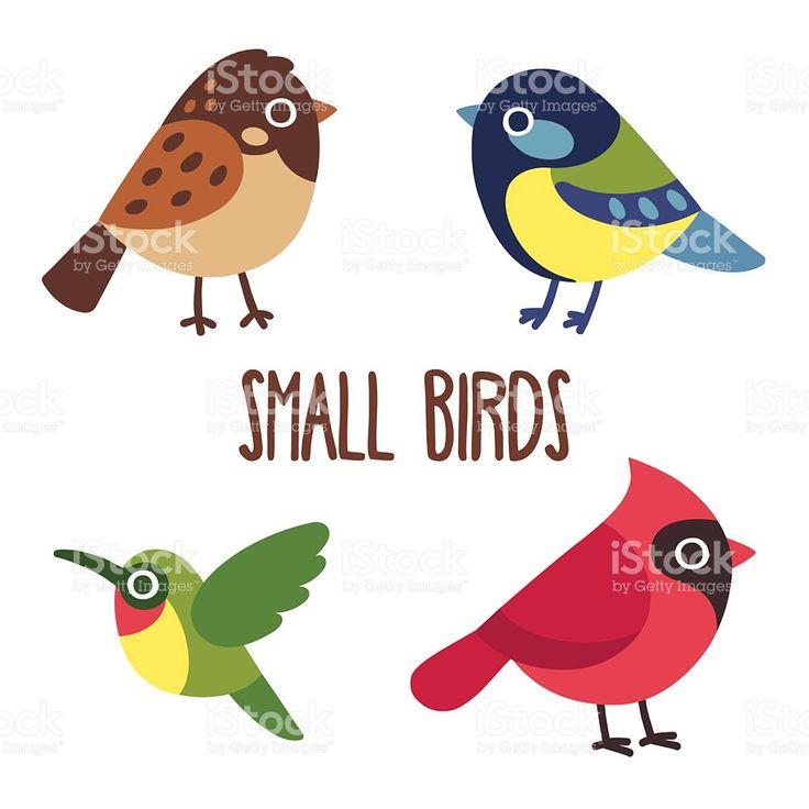 Cartoon birds set royalty-free stock vector art