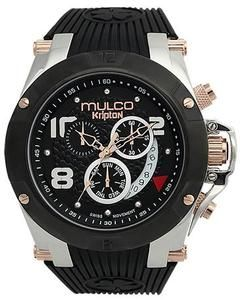 Mulco MW5-2029-025 Chronograph NEW Kripton Collection black band Watch