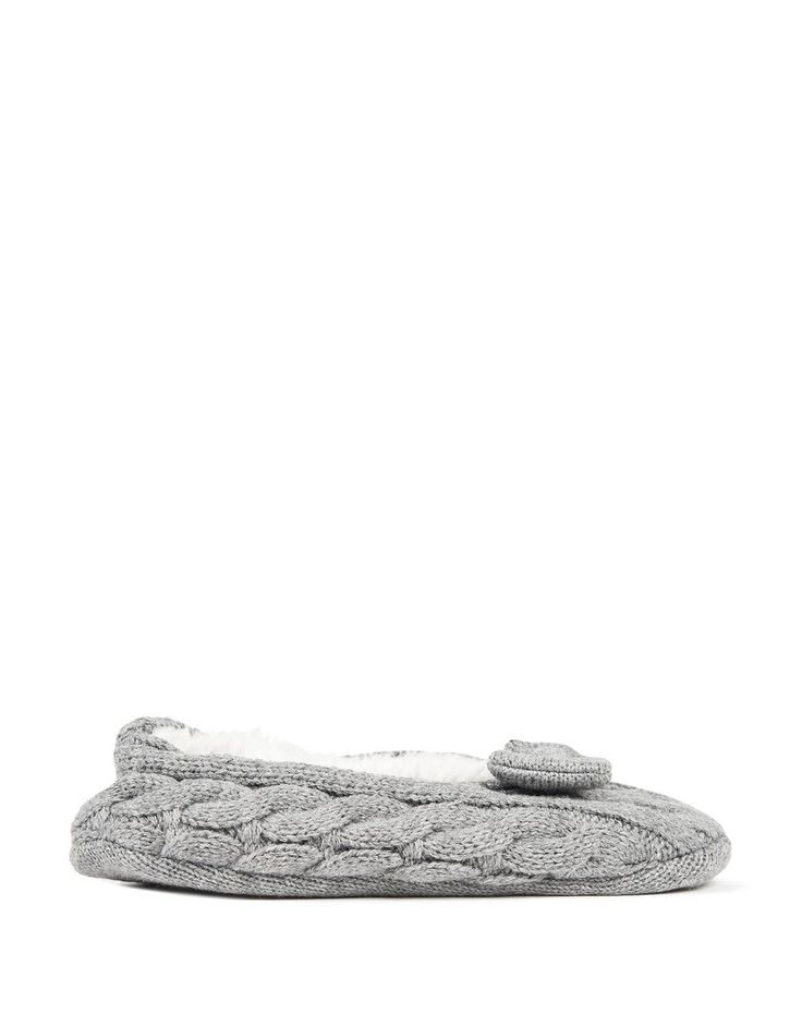 Chunky Knit Slipper Socks