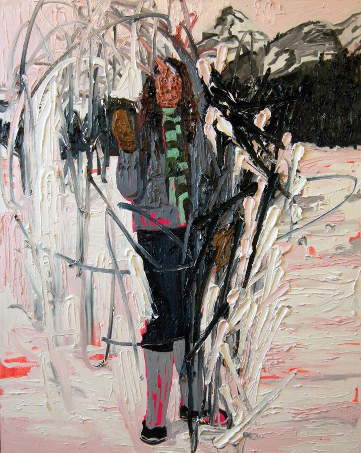 Kim Dorland - Lake Louise - oil and acrylic on panel - 60 x 48 in. - 2008