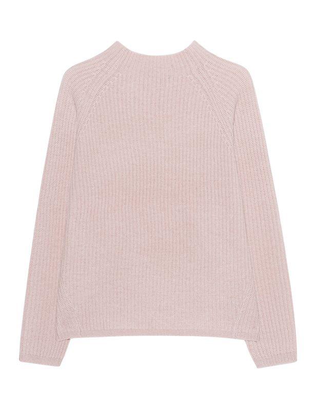 Kaschmir-Pullover Edler rosafarbener Grobstrick-Pullover aus reinem Kaschmir mit leichtem Stehkragen, Raglan-Ärmeln und dezent gerippten Bündchen.  Ein kuscheliger Kaschmir-Pullover für einen luxuriösen Casual-Style...