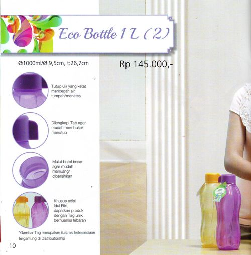 Eco Bottle 1 Lt Tupperware Katalog Promo Murah