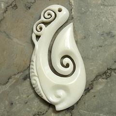 Maori bone carving
