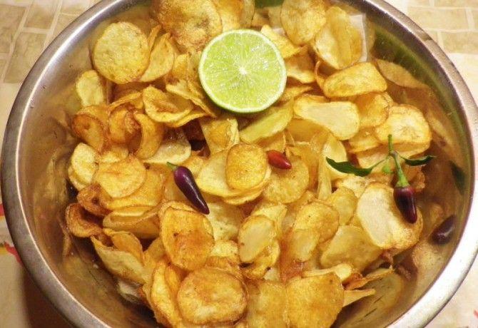 Lime-os-chilis házi chips