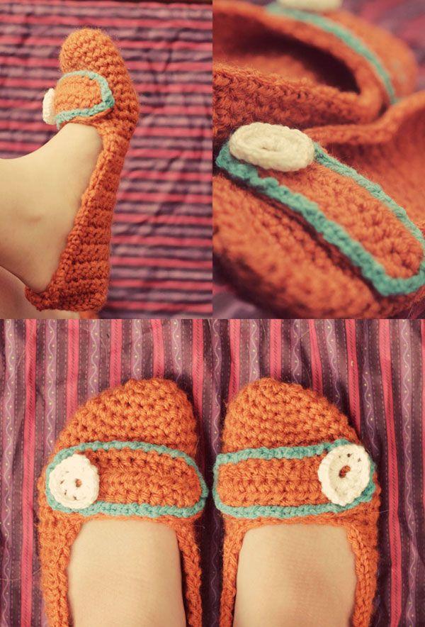Crochet Slipper Pattern - Free Crochet Slipper Pattern   handmadeables