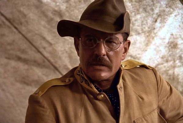 "Tom Berenger as Teddy Roosevelt in ""Rough Riders"""
