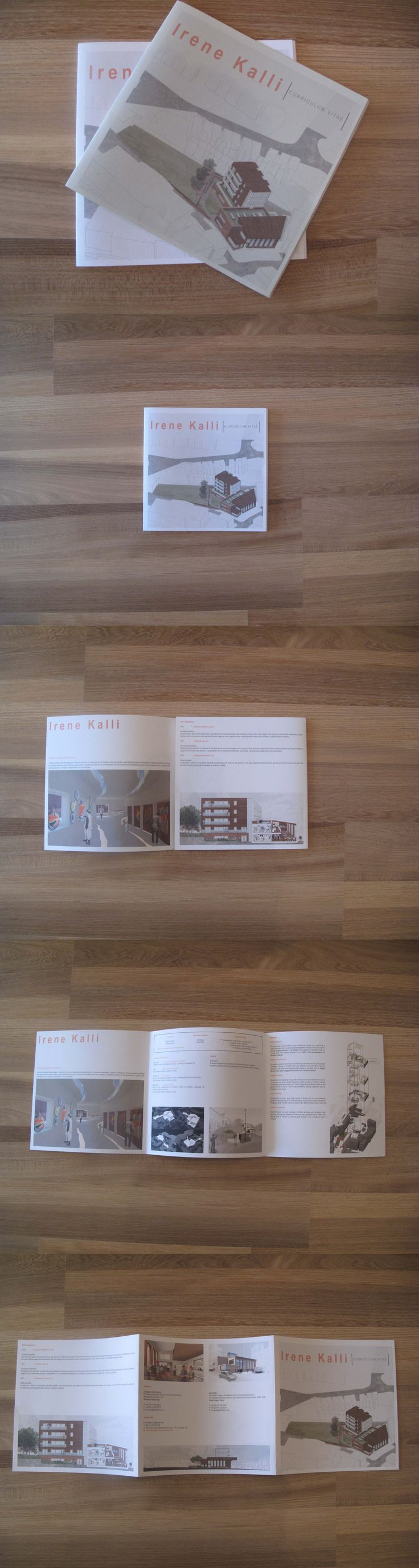 architecture cv and example of work booklet