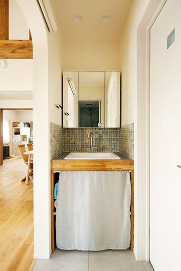 リフォーム・リノベーションの事例 2F 洗面所 施工事例No.572ちょうどいい距離感の二世帯住宅 スタイル工房