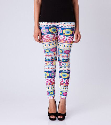 Ethnic Geometry Leggings By ESL. Price: Rs. 350.00 Visit: http://bit.ly/1MEmoG6