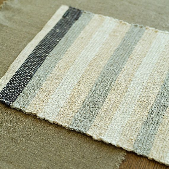 Linen Placemat Greys Multicolor by LinenbyInga on Etsy