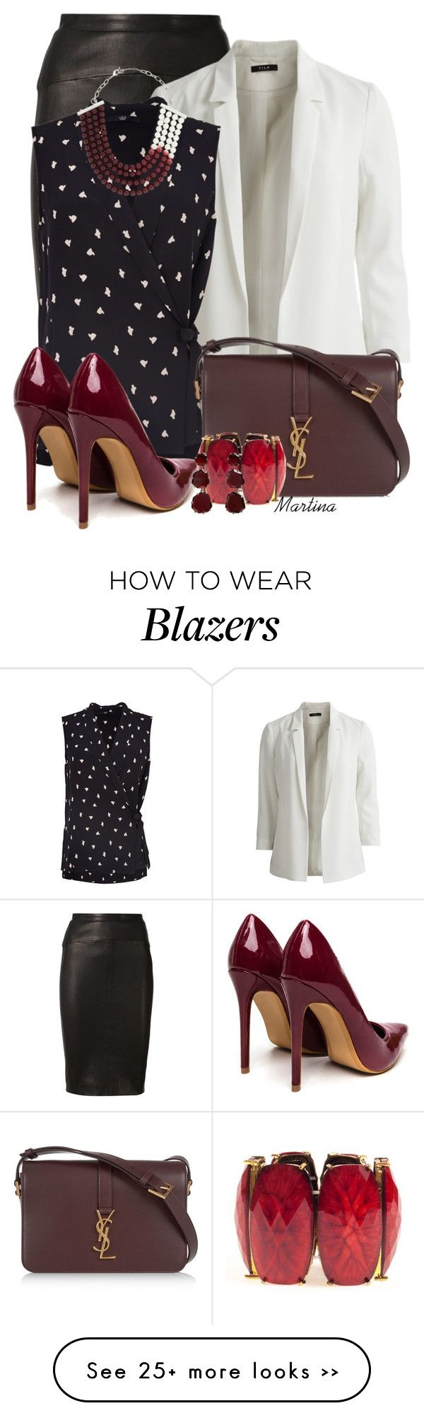 """Bez naslova #2171"" by martina-cciv on Polyvore featuring Narciso Rodriguez, VILA, TIBI, Yves Saint Laurent, DIANA BROUSSARD, Amrita Singh and Annoushka"